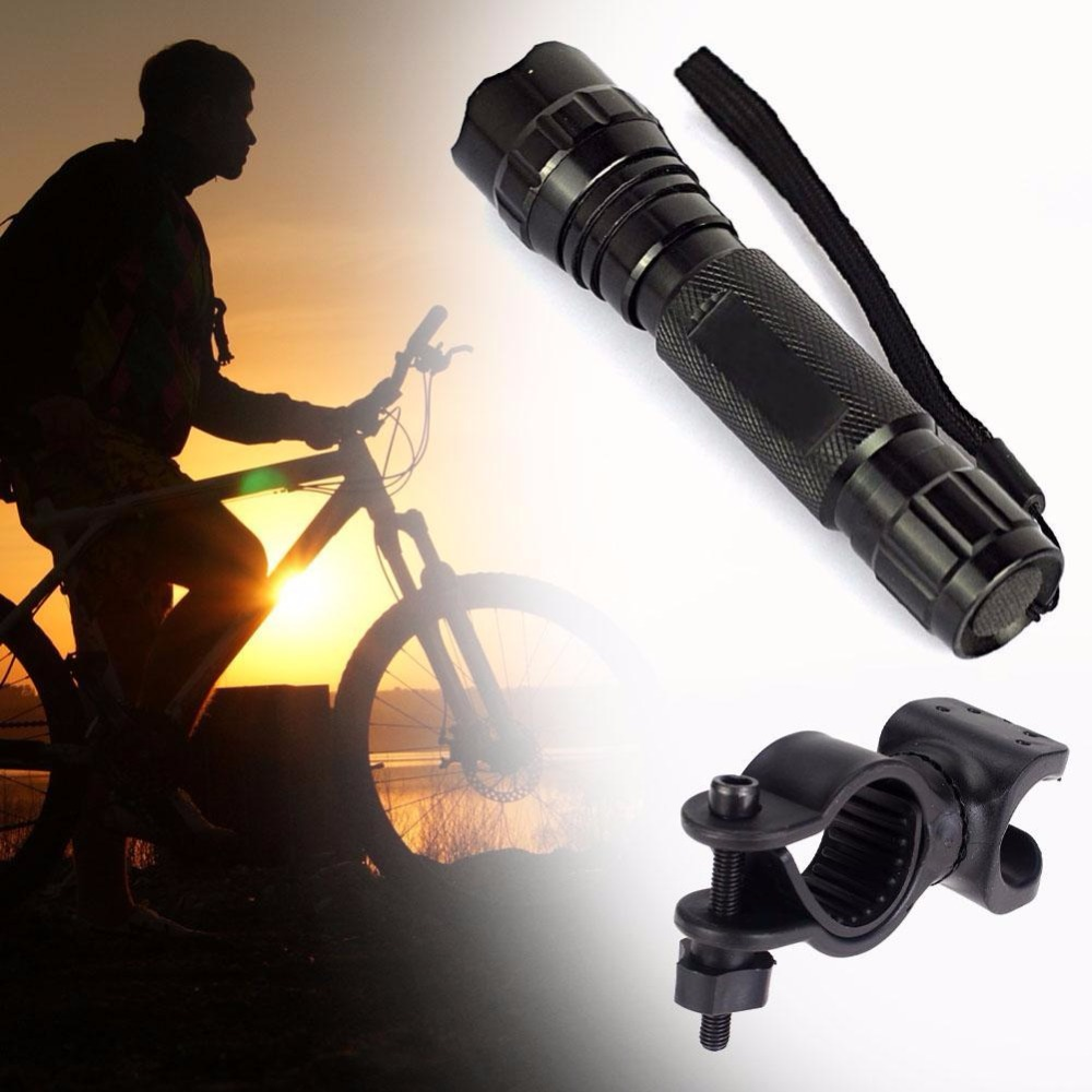 Penlight 2500LM Waterproof LED Flashlight 5 Mode zoomable XM-L Lantern Portable Light Military outdoor +Bicycle light Clip cree xm l t6 bicycle light 6000lumens bike light 7modes torch zoomable led flashlight 18650 battery charger bicycle clip