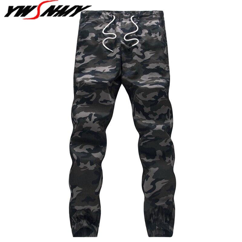 2019 hommes survêtement automne crayon Harem pantalon hommes Camouflage militaire pantalon 100% coton Camo lâche confortable Cargo pantalon