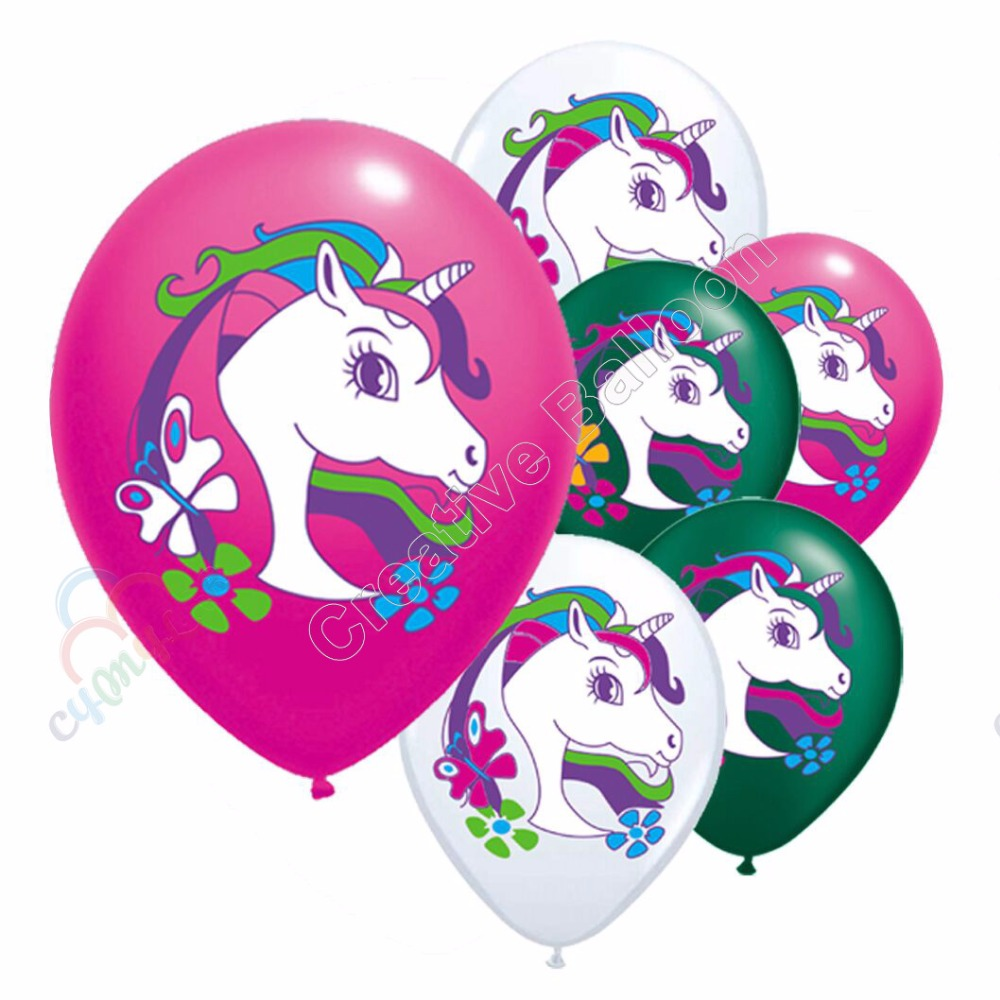Ballons & Accessories Festive & Party Supplies Wholesale 10pcs/lot Cartoon Unicorn Latex Balloons Globos Happy Birthday Party Decoration Baby Girls Toys Rainbow Unicorn Ballon High Resilience