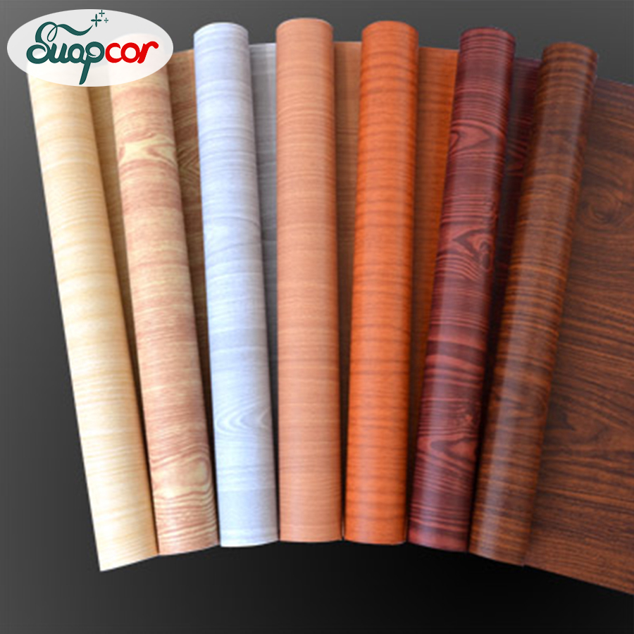 5M/10M Self-adhesive Wallpaper Rolls Wardrobe Cupboard Door PVC Imitation Wood Stickers Old Furniture Waterproof Decorative Film