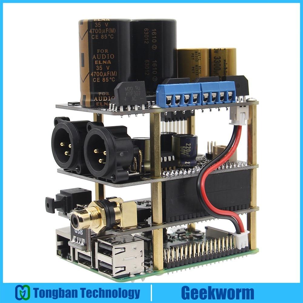 Raspberry Pi X20 XLR Hifi Audio Kit X20 XLR ES9028Q2M Board X10 I2S Board X10 PWR