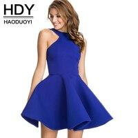 HDY Ince zarif halter elbise kapalı omuz elbise balo toptan ve ücretsiz gönderim haoduoyi kadınlar için yaz elbiseler