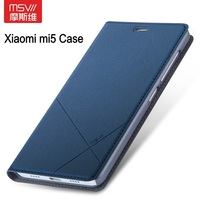 MSVII For Xiaomi Mi5 Case Flip PU Leather Luxury Wallet Cover For Xiaomi Mi 5 Mi5