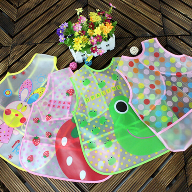Newborns Infants Food Bibs Waterproof Gardener Feeding Clothes For Apron Eva Transparent Baby Aprons Consumers First Mother & Kids