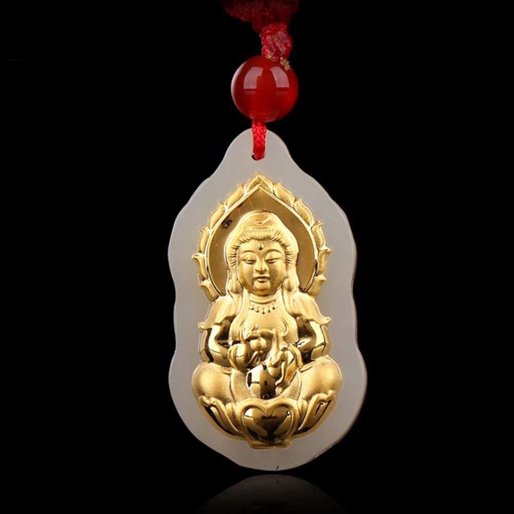The Buddha Good Luck Jade Necklaces Top Quality for Men Women Pendants Jewelry A Birthday Present a loonie for luck