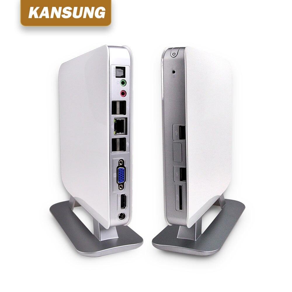 KANSUNG K135 AMD E350D Dual Core Mini Pc Windows Linux Ubuntu 6 USB 1 HD video 1 VGA HD TV Box HTPC рабочая станция rdp 4 usb 1 5 1 4 1080p hd windows multipoint server pc x3