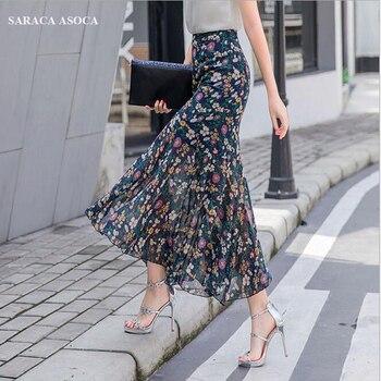 440e443411f Летние богемные длинные шифоновые юбка-годе женские большие размеры ...