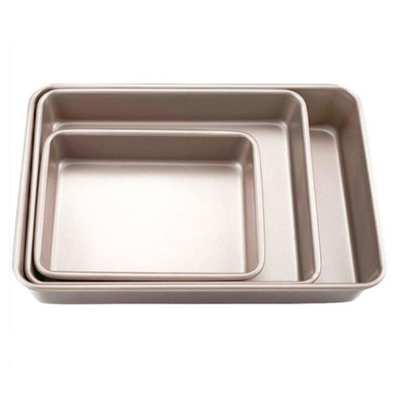 9/11/12.8/15 polegada bandeja de cozimento retangular não-vara metal bolo pão baguette cozimento pan molde para forno bakeware