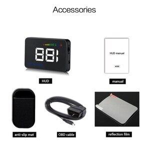 Image 5 - GEYIREN 2018 A500 HUD Auto Überdrehzahl Alarm Wasser Temperatur Alarm OBDII oder EU OBD interface Reflektierende Film Auto styling