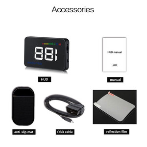 Image 5 - GEYIREN 2018 A500 HUD Car Overspeed Alarm Water Temperature Alarm OBDII or EU OBD interface Reflective Film Car styling