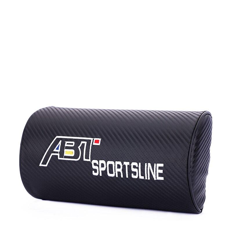 Embroidery for ABT emblem Car carbon fiber style headrest soft Neck Pillow Volkswagen polo golf 6 7 passat b5 accessories