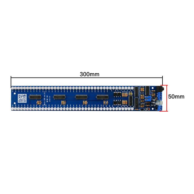 GHXAMP Dual 40 LED Music Spectrum Level indicator Board Audio MP3 Sound control Indicator VU Meter amplifier Subwoofer car 5V