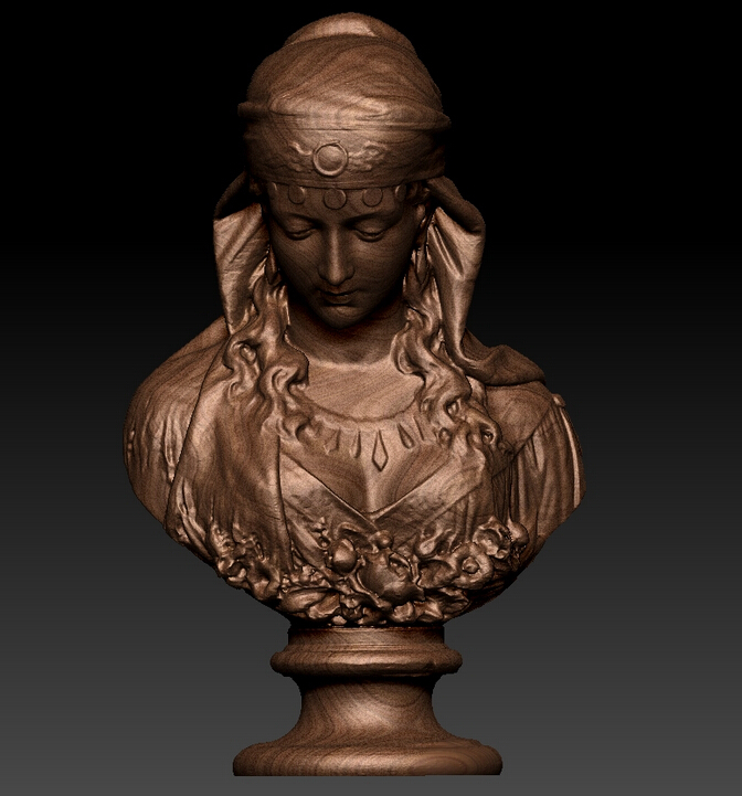 3D Relief Model For Cnc In STL File Format Gypsy Girls
