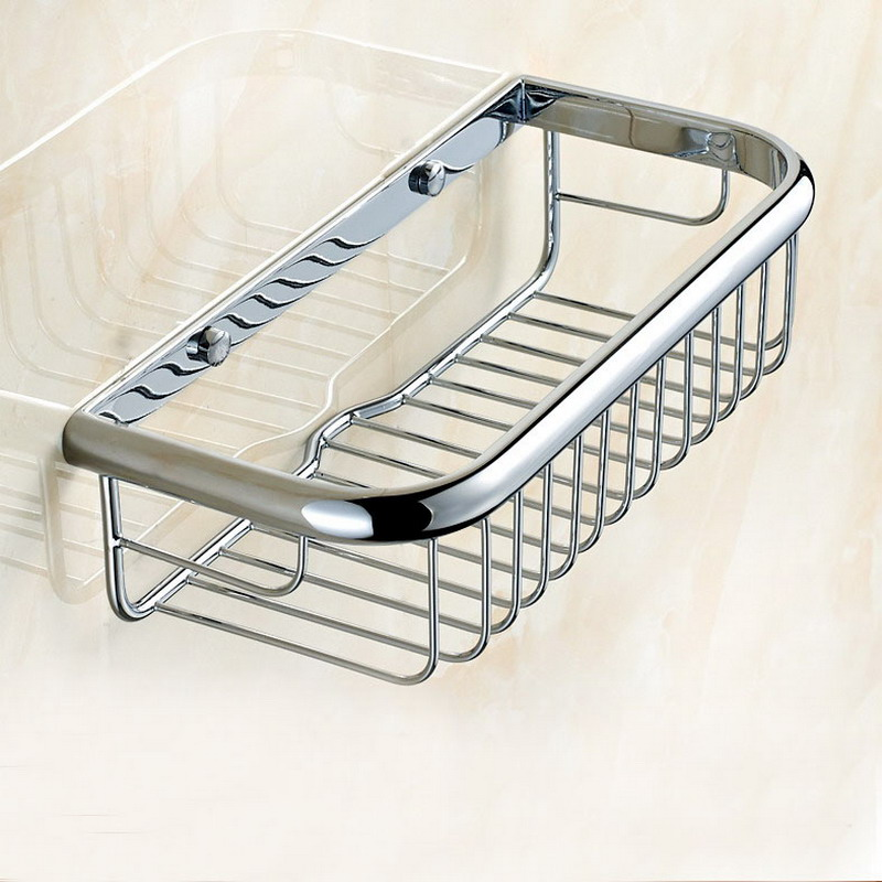 Chrome Shower Basket Bath Soap Shampoo