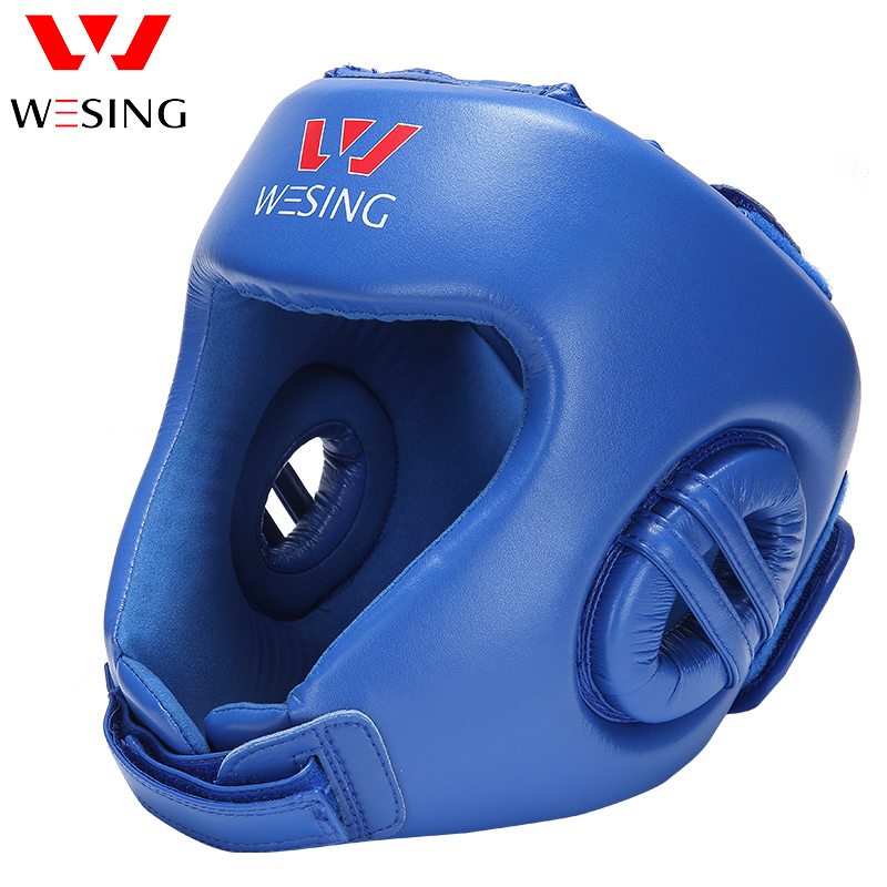 Wesing AIBA Approved Boxing Head Guard Martial Art Muay Thai Fighting Protective Gears for Professional Athlete Competition Gear wesing aiba approved boxing gloves 12oz competition mma training muay thai kickboxing sanda boxer gloves red blue
