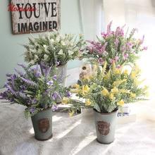 Artificial plants plastic Autumn Wheat Handmake Artificial Flower Bouquet Wedding Decoration DIY pompom fleurs scrapbooking