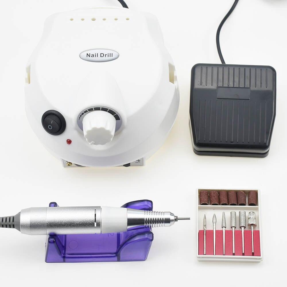 Timistoy 3 Farbe Nagel Bohrer Maschine 30000 rpm für Elektrische Maniküre Bohrer Maschine & Zubehör Mit Fräsen Cutter Nagel Dateien
