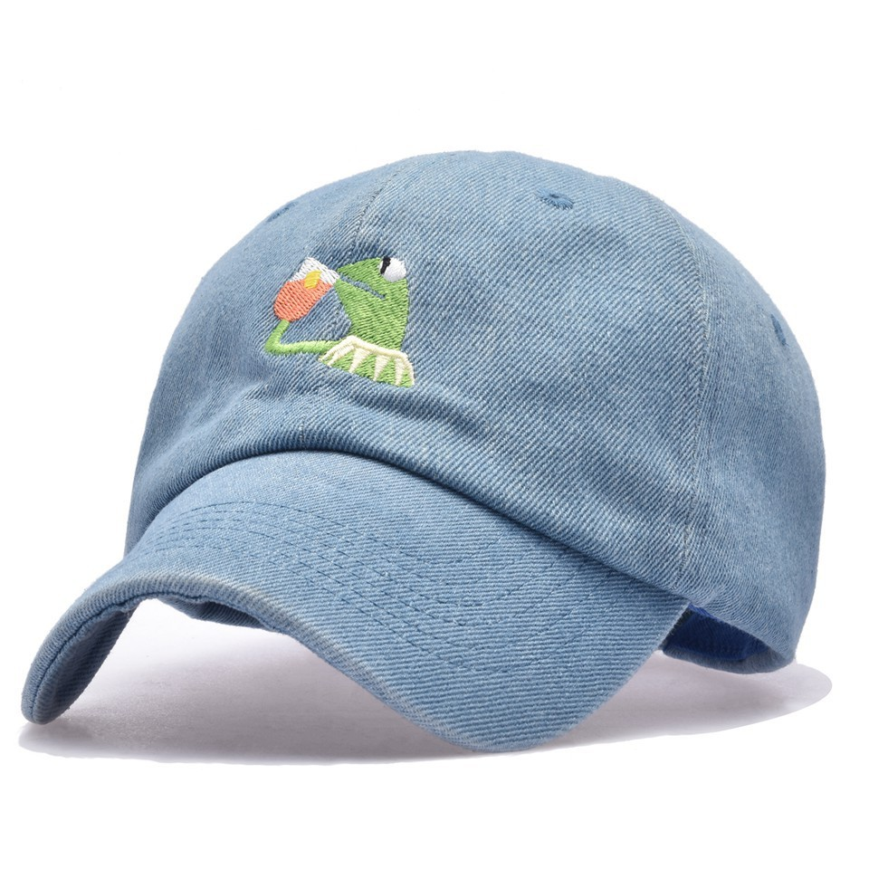 Belababy 2018 I FEEL LIKE LEBRON Kermit Embroidery Dad Snapback Baseball Cap Meme Frog Visor Hat Gorras Casquette Cotton CAP brushed cotton twill ivy hat flat cap by decky brown