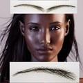 2016 Sobrancelha Falsas Cejas Para Las Mujeres, usted no Necesita Las Cejas Tatuajes de Henna, envío Libre Humano Hecho A Mano del Cordón Del pelo de Las Cejas