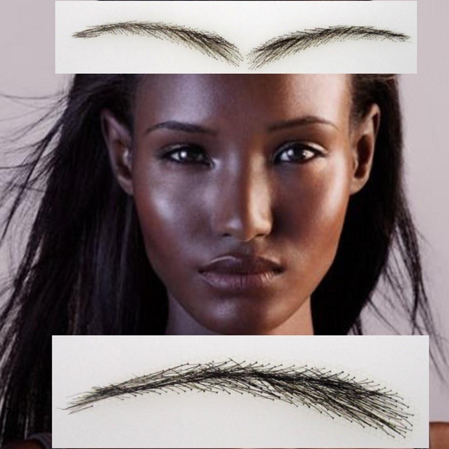 ФОТО 2016 Sobrancelha False Brow For Women,you Don't Need Henna Tattoos Eyebrows,free Shipping Hand Made Human Hair Lace Eyebrows