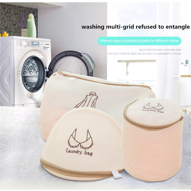 Mesh Underwear Washing Bags For Cleaning Socks Bra Polyester Washing Machine Clothes Laundry Bag Travel Storage Bra Wash Net Bag