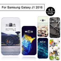 Newest TPU Case For Samsung Galaxy J1 2016 Soft Silicon Back Cover For Samsung Galaxy J1 2016 Pattern Cover Cases Colorful Shell