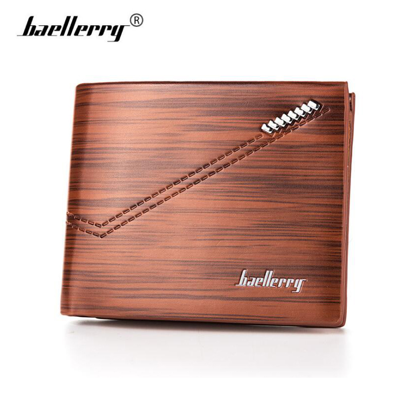 4ce75befa2 Baellerry High Quality Leather Wallet Men Short Wallets Fashion Organizer  Purse Male Small Trifold Billfold Card Holder Wallet