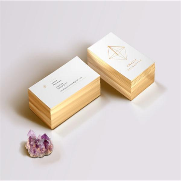White card goldengold foil business card custom business cards white card goldengold foil business card custom business cards edge gilding color printing card reheart Image collections