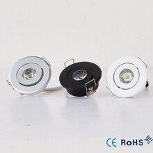 110 В 220 В светодиодный мини-Потолочный Светодиодный точечный светильник с регулируемой яркостью 3 Вт мини-светодиодный светильник белый, черный, серебристый мини-светильник