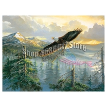 eagle Patriotic 5D Diy Diamond Painting Cross Stitch Embroidery American Splendor Pattern Hobbies And Crafts Mosaic Kits