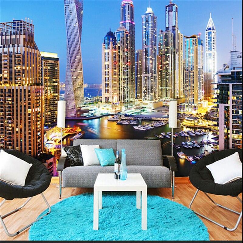 Buy 2015 dubai night living room study for 3d wallpaper for living room in dubai