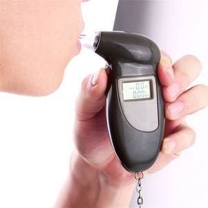 LCD Display Digital Alcohol Tester Device Professional Police Alert Breath Alcohol