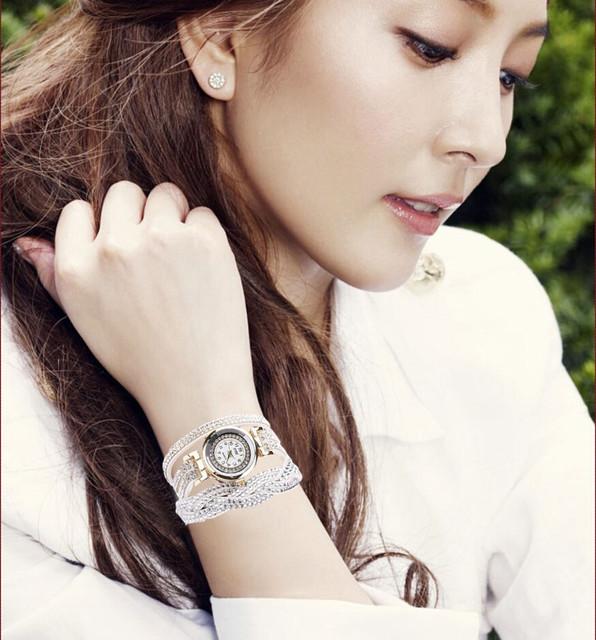 CCQ Fashion Rhinestone  Wristwatch