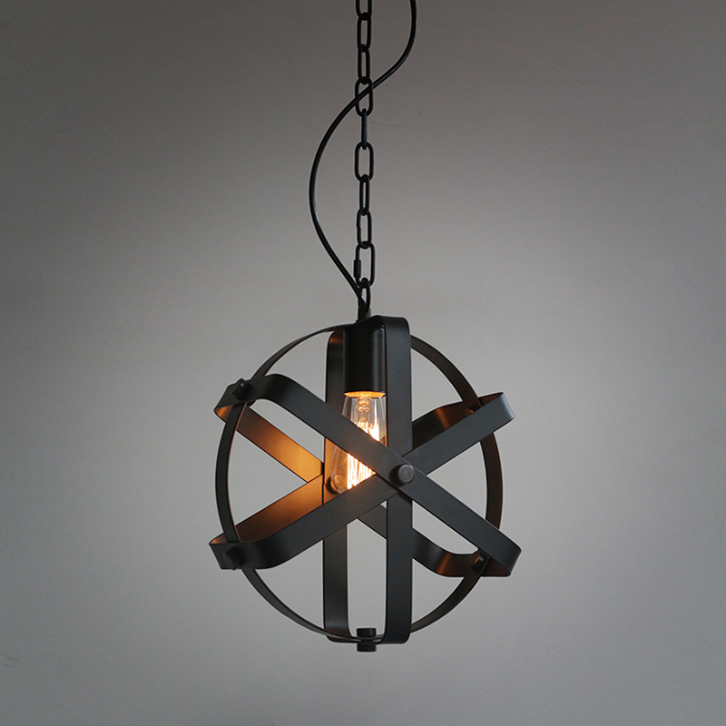Loft Retro Industrial Iron Vintage Chandelier Lighting Fixture Single-head E27 Bulb American Restaurant Bar Hanging Lamp PL535 loft antique retro spider chandelier art black diy e27 vintage adjustable edison bulb pendant lamp haning fixture lighting