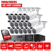 16ch 4MP Camera kit camera video surveillance 16 Channel DVR 4MP AHD Security Cameras Outdoor IR Lens CCTV System Night Vision