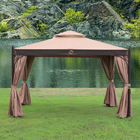 3*3.6 meter high quality no rust durable outdoor gazebo tent patio shade pavilion garden canopy rain protection furniture house