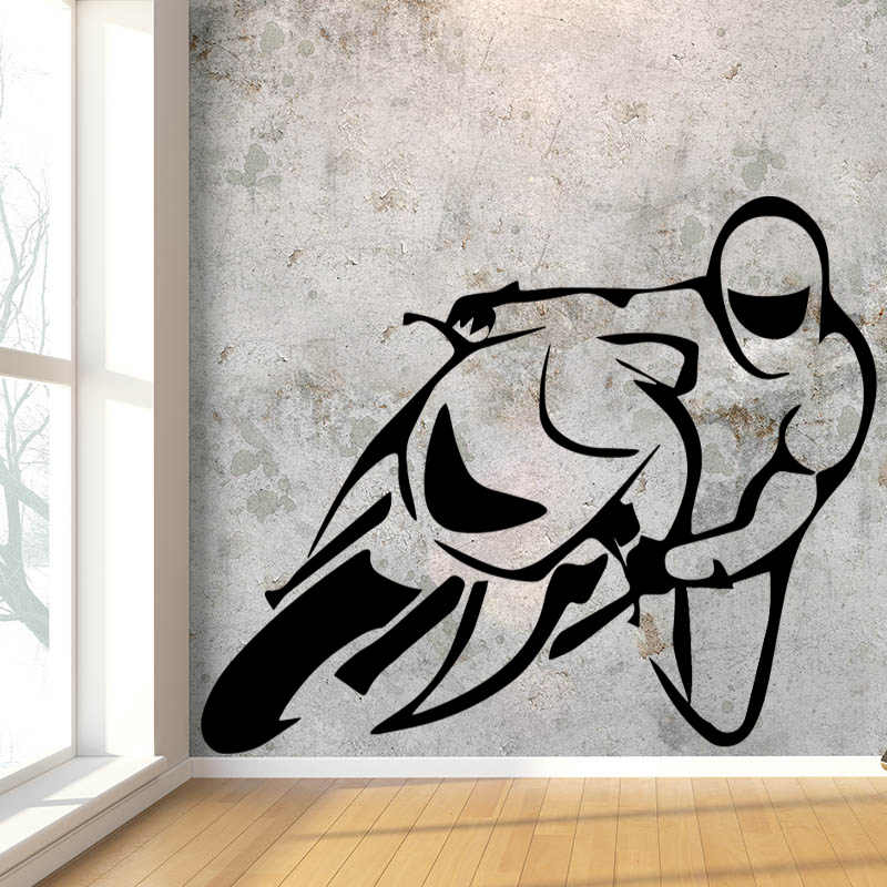 Creative Motorcycles Race Design Wall Sticker For Boys Bedroom Background Vinyl Removable Wall Decals Waterproof Art Wallpaper Designer Wall Stickers Wall Stickerstickers For Aliexpress
