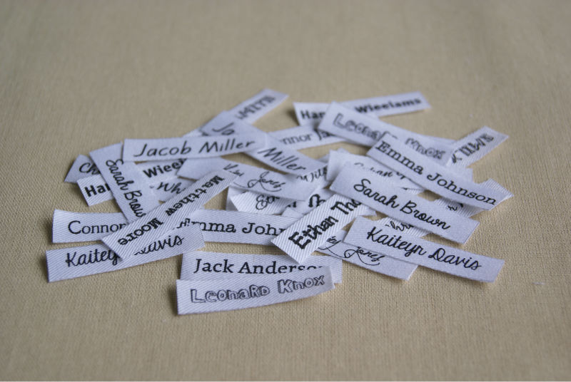 Custom clothing labels personalized name tags for