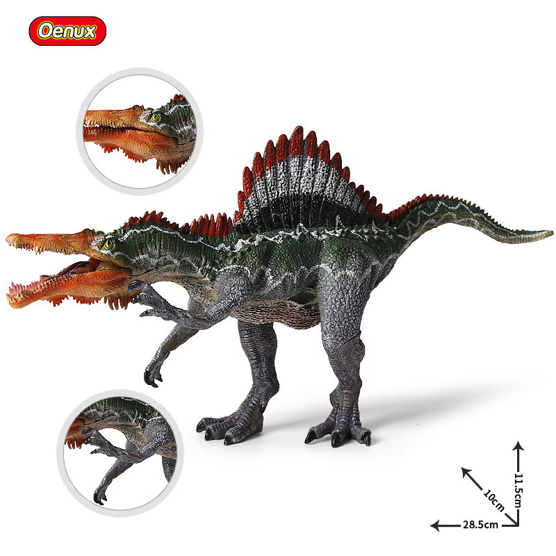 Oenux Prehistoric Jurassic Dinosaur S. marocannus Spinosaurus Mouth Can Open Model Action Figures Educational&Collection Toy jurassic velociraptor dinosaur pvc action figure model decoration toy movie jurassic hot dinosaur display collection juguetes
