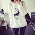 Fashion plus velvet thickening plus size women pullover sweatshirt warm winter spring 14 color printed hoodies clothes 2017 new