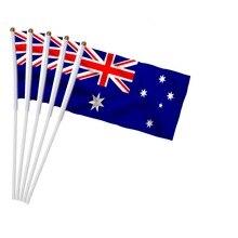 14x21 см, 5 шт., австралийский Национальный флаг, ручные развевающиеся флаги, пластиковые флагштоки, парадные спортивные украшения для дома NC004