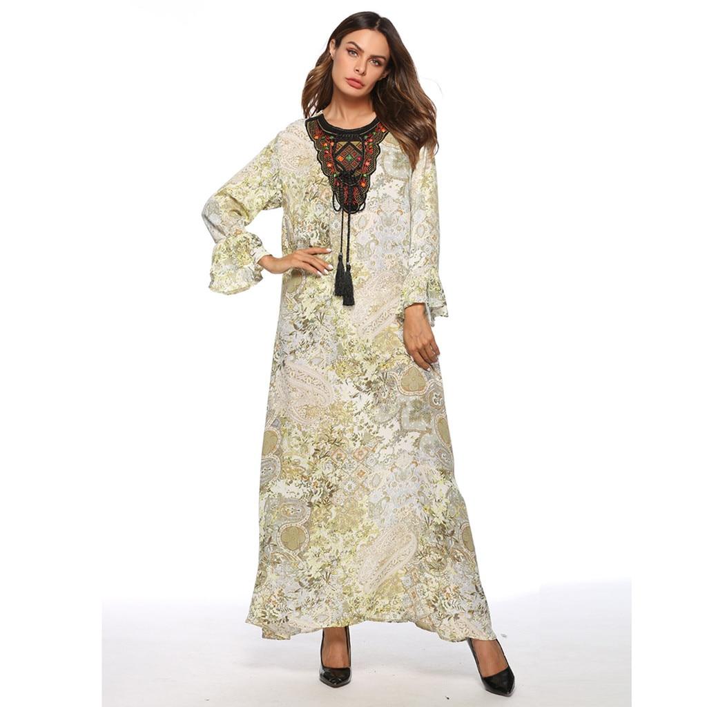 YOUYEDIAN elegant loose islamic fashion muslim dress Muslim Women's Abaya