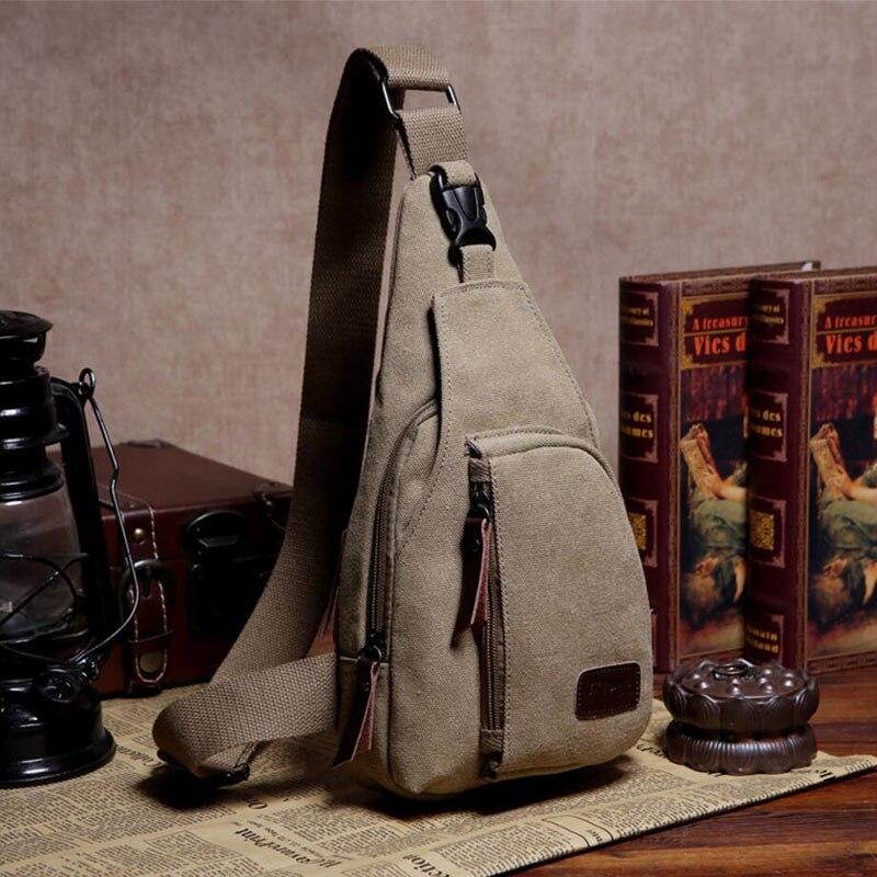 Nouveau mode homme sac à bandoulière hommes toile Messenger sacs décontracté voyage militaire Messenger sac a main poitrine sacoche homme noir