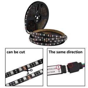 Image 4 - USB RGB 5 V Dải Đèn LED Ánh Sáng Máy Tính RGB Bluetooth 5050 0.5M 1M USB 5 V Dải Đèn LED ánh Sáng RGB PC TV Đèn Nền Điều Khiển Bluetooth