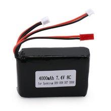 7.4V 8C 4000mAh RC Transmitter Battery Rechargeable Transmitter Lipo Battery for Spektrum DX9 DX8 DX7 DX6E Transmitter 1pcs high quality zop power 11 1v 2200mah 8c lipo battery for futaba transmitter devo jr transmitter