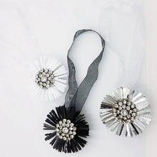 1pcs Magnetic Curtain Tiebacks Flower-shaped Buckles Home Room Decoration Korean Rhinestones Clips