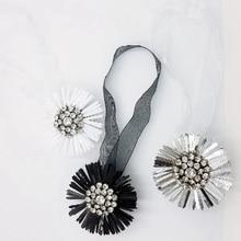 1pcs Magnetic Curtain Tiebacks Flower-shaped Buckles Home Room Decoration Korean Rhinestones Clips