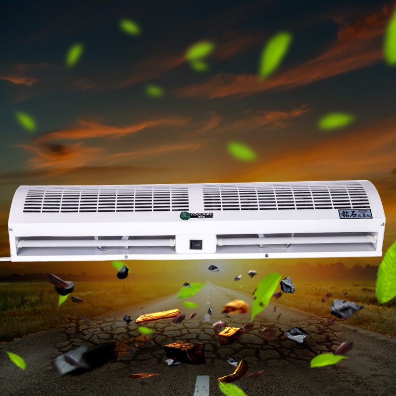 0.9-1.8m Air Doors Dust Proof Air Curtain Machine Cross-flow For Hotel Supermarket Internet Cafe Store Project Electric Air Door