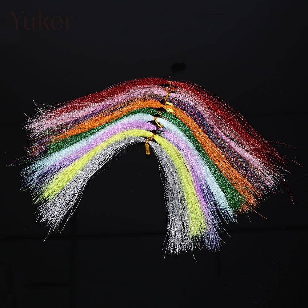 100pcs Crystal Fishing Line Tying Material 30cm Tackle Bait Line Color Random