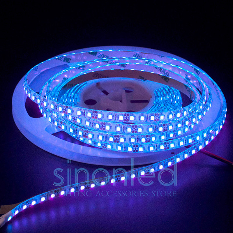 1m/2m/3m/4m/5m 3528/5050 SMD <font><b>UV</b></font> <font><b>LED</b></font> <font><b>Strip</b></font> Light DC12V 395-405nm 60led/m 120led/m Ultra Violet Purple Flexible Tape Waterproof image